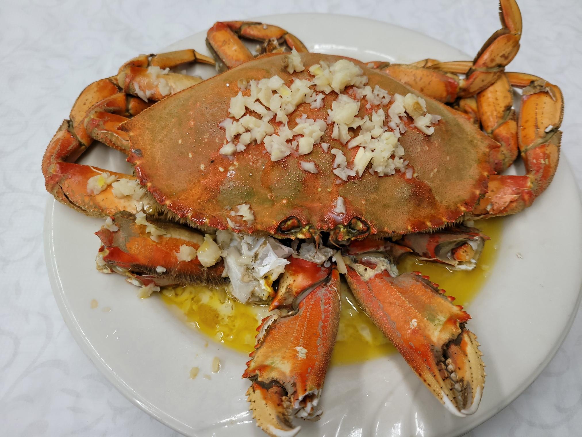 Steamed Garlic Crab
